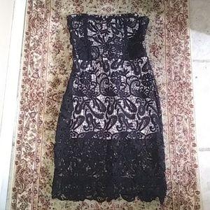 Olivaceous Sexy Black Lace Crochet Dress